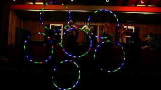 LED Hooping of Boomtown Hoops to Hot Seats at Watermelon Park Fest