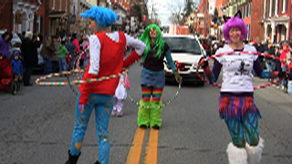 Hula Hooping Holiday Parade