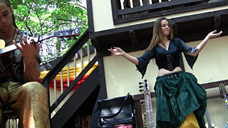 Celtic Gypsy Meaghan Dancing to Wine and Alchemy